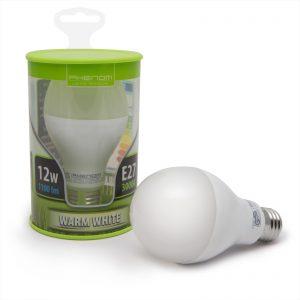 PHENOM E27, 12W~75W, normál gömb LED égő
