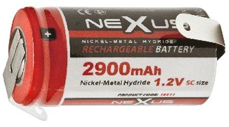 Nexus 2900mAh Ni-MH 1.24V akku &quotSC&quotméret