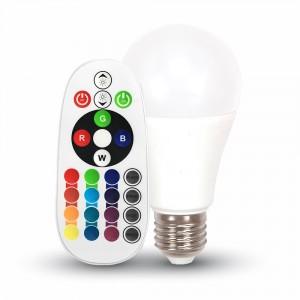 V-TAC E27, 6W RGB LED égő távszabályzóval