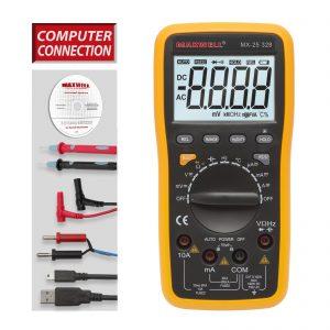 MAXWELL multiméter 5az1-ben, USB-s, PC kapcsolattal