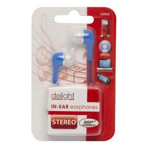 Delight In-Ear earphones (piros, fekete)