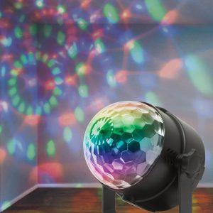 LED mágikus kristályfény távszabályzóval, tápegységgel.
