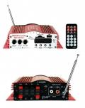 HIFI012 4 csatornás lejátszó-erősítő USB/SD/MMC/FM/AUX 4x40W MA-200