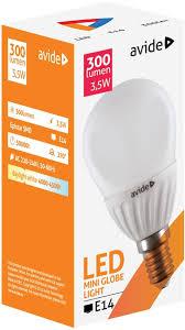 Avide, E14 kisgömb 3,5W~29W, LED égő, természetes fehér