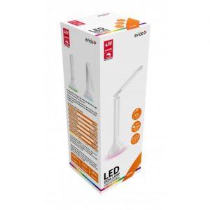 Avide LED Asztali Lámpa, 4 W, RGB Hangulatvilágítással, Fehér