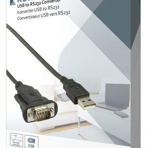 KÖNIG RS-232 soros, USB átalakító kábel 1.80 m