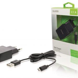 Sweex 5V/2,1A micro USB-s töltő