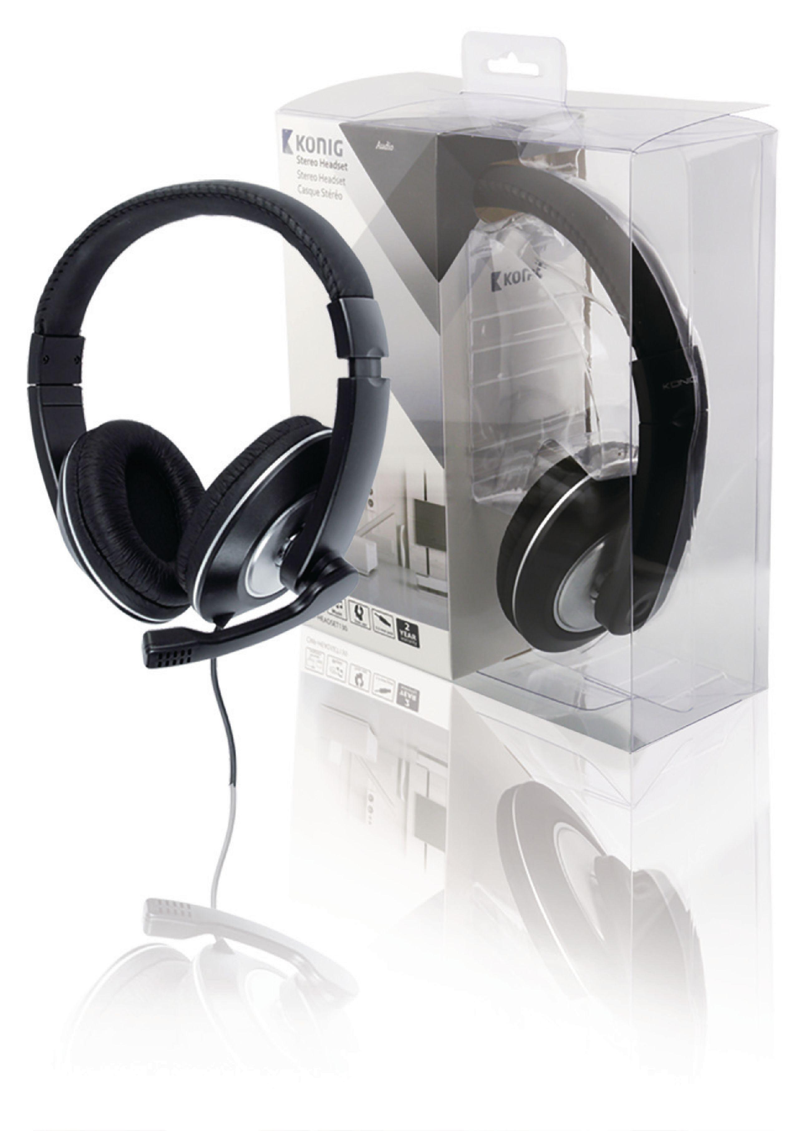KÖNIG AUDIO zárt sztereó fejhallgató-mikrofonnal CMP-HEADSET130 ... fac8aafdc3