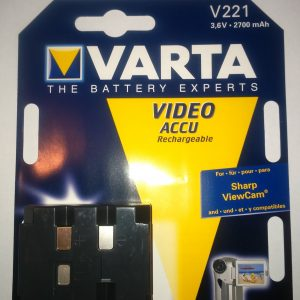 Varta V221 Sharp videó kamerákhoz 3.6V 2700mAh Ni-MH