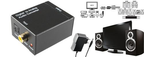 DTA HIFI optikai kimenetről RCA-ra átalakító konverter