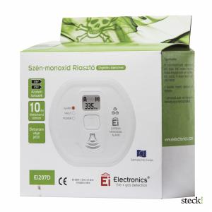 STECK Ei207D LCD kijelzős szén-monoxid érzékelő