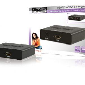 KÖNIG KN-HDMICON26 HDMI-ről VGA-ra átalakító konverter
