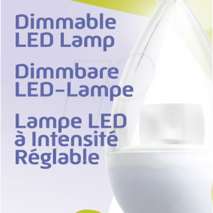 HQ LED égő 5.5W~32W E14 gyertya, szabályozható fényerejű