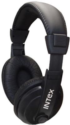 INTEX HS-301B Sztereó fejhallgató mikrofonnal hangerőszabályzóval