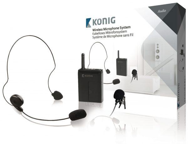 KÖNIG KN-MICW631 PROFESSZIONÁLIS Vezeték nélküli 2db-os mikrofon szett (opció a 611 és 621-hez)