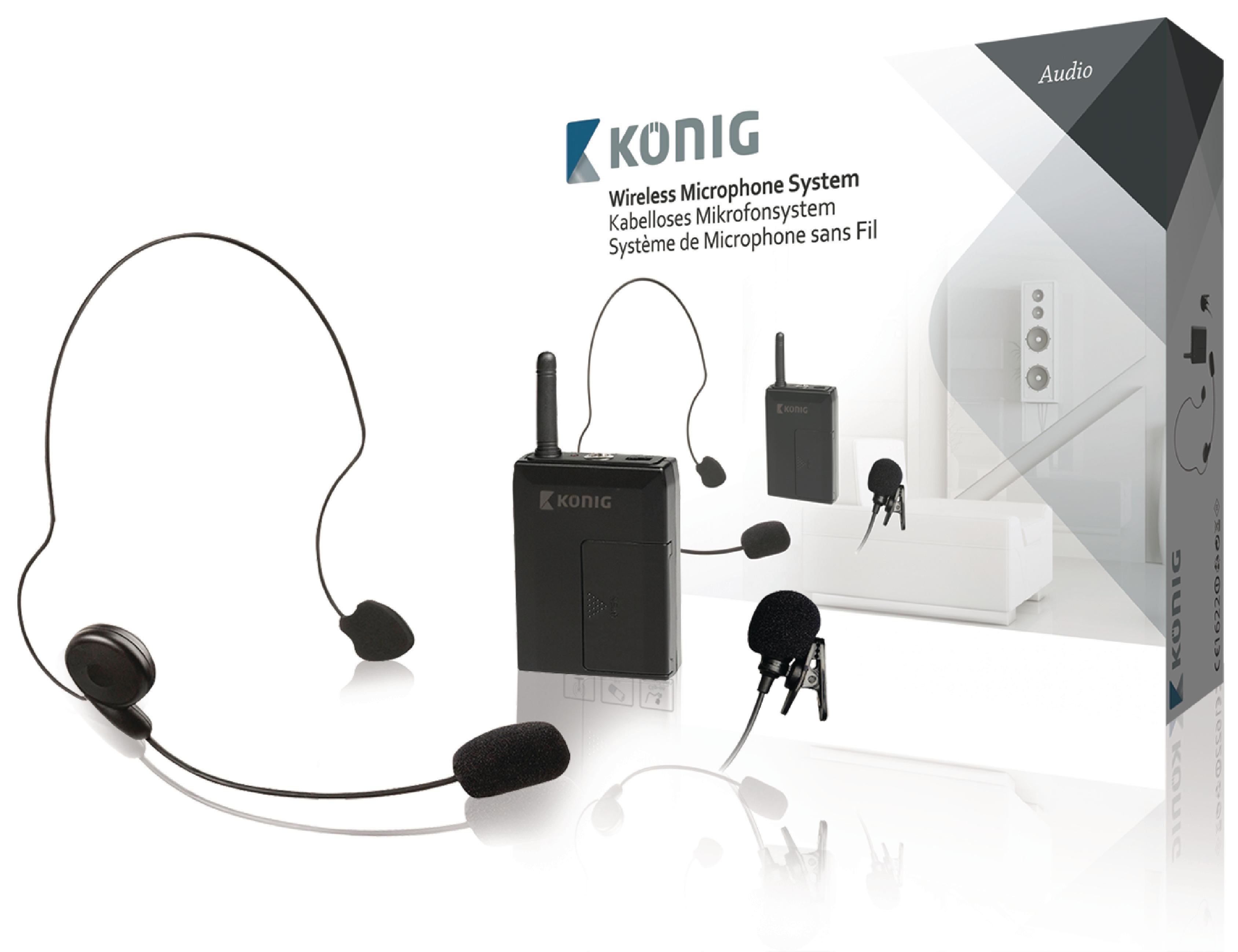 KÖNIG KN-MICW631 PROFESSZIONÁ LIS Vezeték nélküli 2db-os mikrofon szett  (opció a 24d778a49a