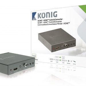 KÖNIG KN-VCO3420 Scart-ról -HDMI-re átalakító konverter