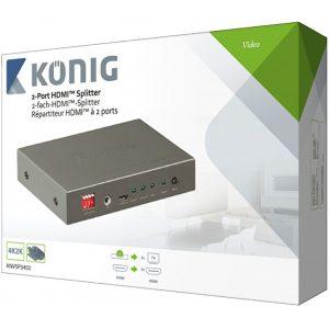 KÖNIG KNVSP3402 HDMI splitter (2-es elosztó)