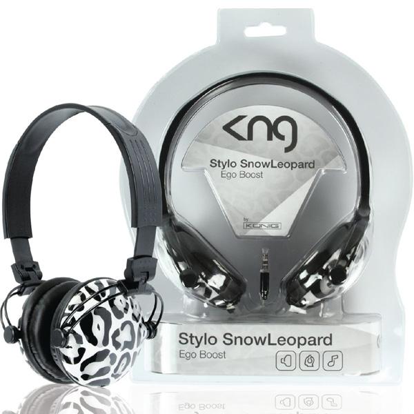 KNG 5075 Stylo SnowLeopard zárt sztereó fejhallgató - Műszaki Pince 24f7ee3662
