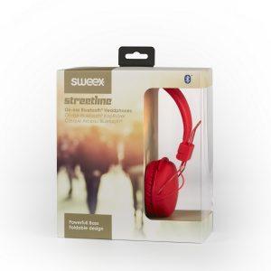 Sweex zárt sztereó fejhallgató Bluetooth (piros, fehér vagy kék)