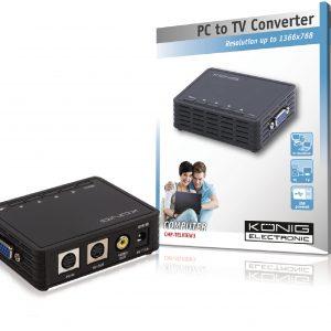 KÖNIG CMP-TELVIEW3, VGA-ról RCA-ra, S-VHS-re átalakító konverter