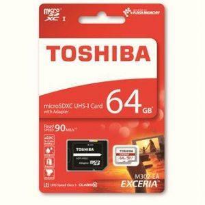 TOSHIBA 64GB micro SDXC CL10 kártya