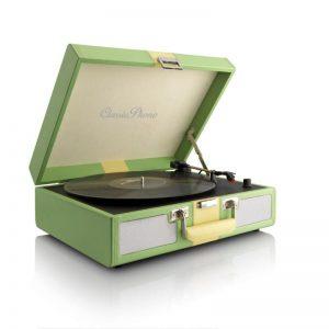 Supertech TT-33 G Retro aktatáska lemezjátszó (zöld)