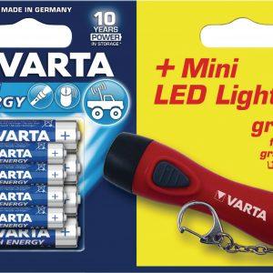 VARTA High Energy 4AA/4AAA/ajándék LED lámpa