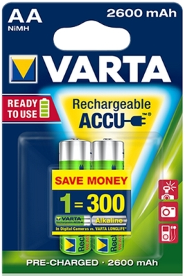 Varta 2600mAh Ready to use , 1350.-Ft/db