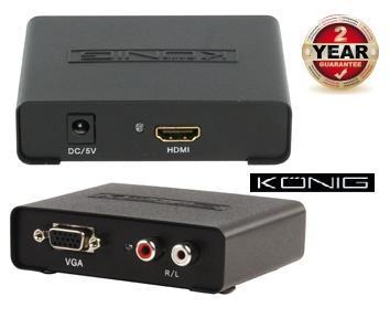 KÖNIG KN-HDMICON21 VGA-ról HDMI-re átalakító A-D konverter